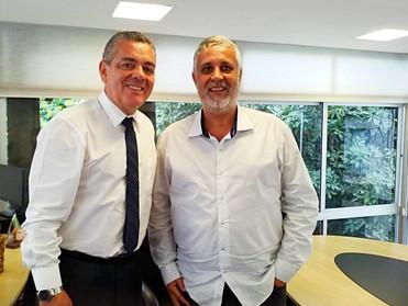 Dr. Áser Barros de Paula se reúne com o Presidente da CAA/MG