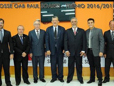 Dr. Áser Barros de Paula é empossado presidente da OAB de Raul Soares por mais três anos
