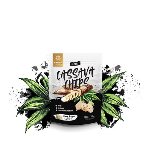 NUTRIOZ Cassava Chips - Black Pepper Cheese (Mini 30g.)