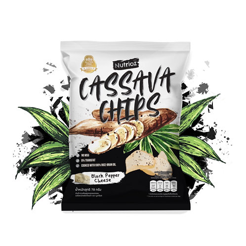 NUTRIOZ Cassava Chips - Black Pepper Cheese (78g.)