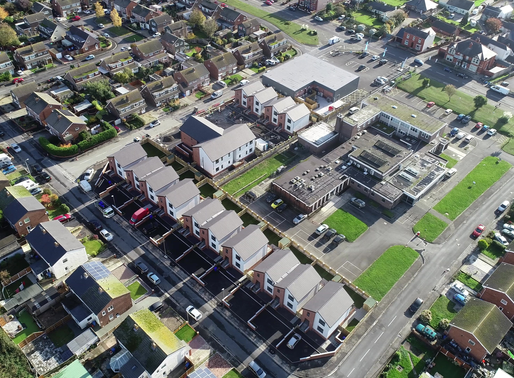 Prestatyn housing and retail development completed