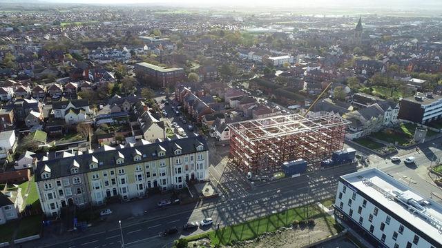 Birds eye view of The Grange development 8th Nov 2019
