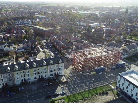 Birds eye view of The Grange development 8th Nov 2019