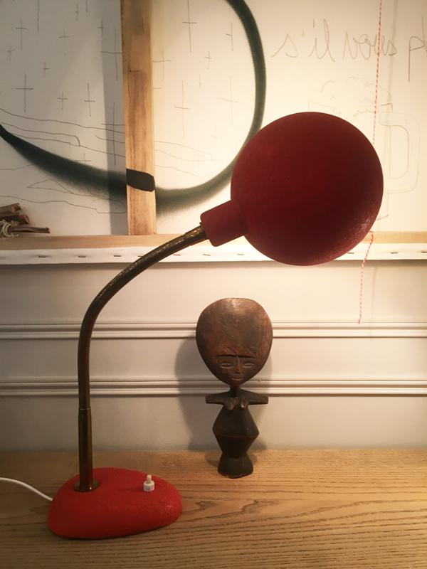 lampe de bureau rouge