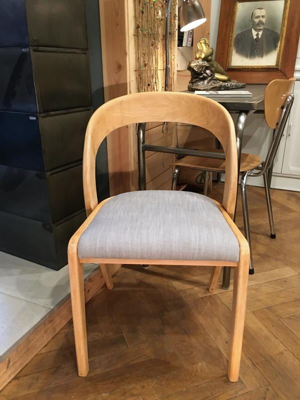 chaise bois&gris