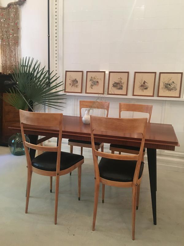 table fifties avec rallonges