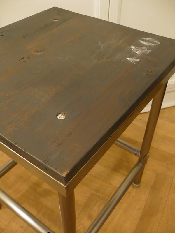 Table industrielle vintage