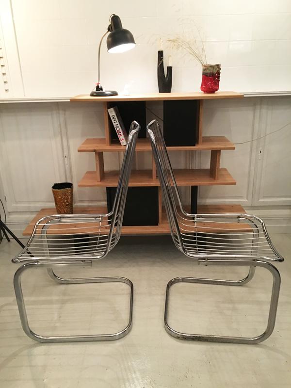 chaises chromées