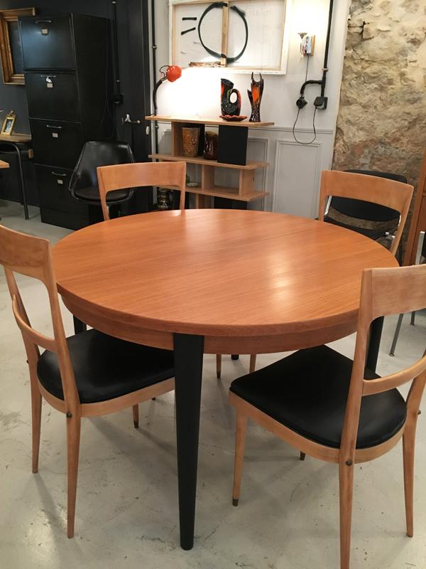 table ronde à rallonge