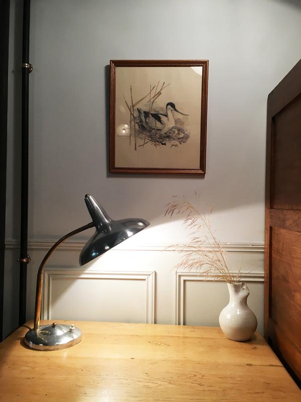 lampe de bureau laiton et alu