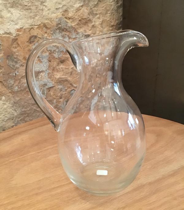 Carafe à eau en verre soufflé