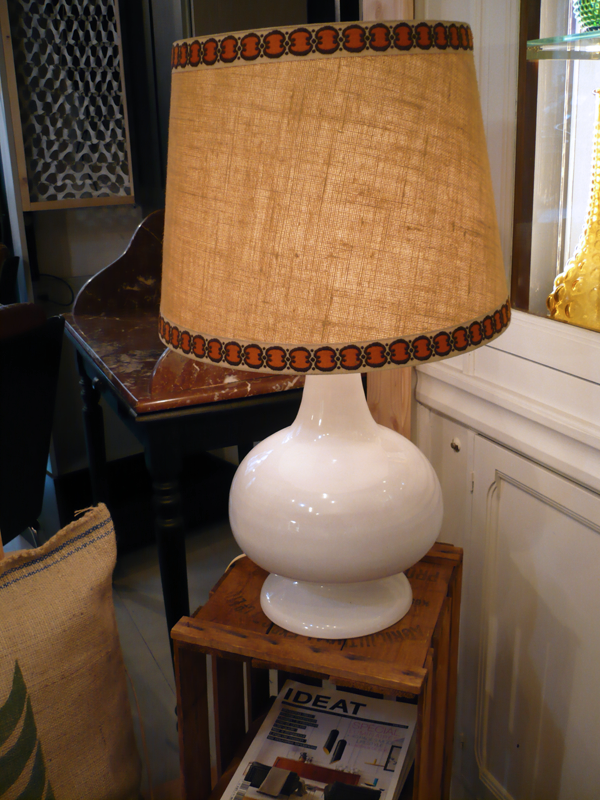 Lampe années 70 en céramique