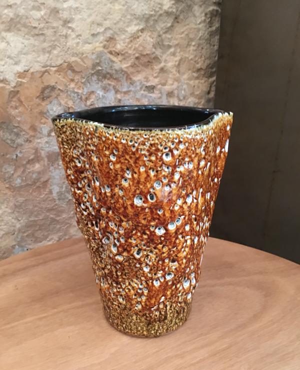 Vase en céramique émaillée Fat Lava