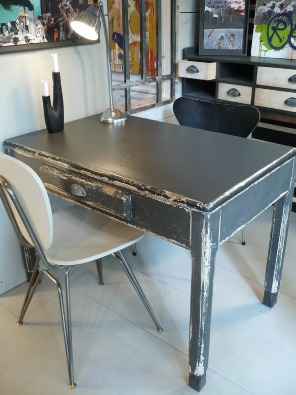 table en bois années 40