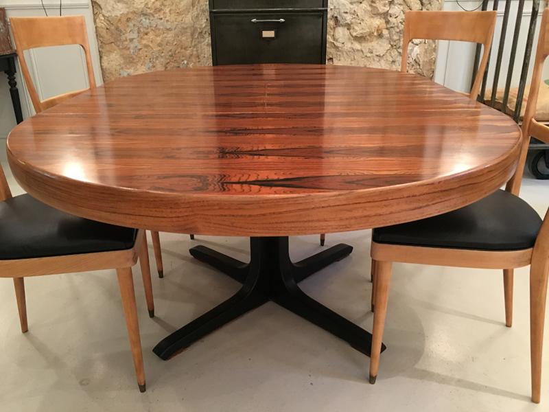 table en palissandre années 50