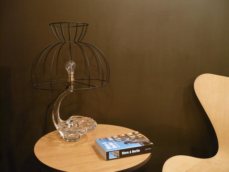 Lampe vintage en cristal