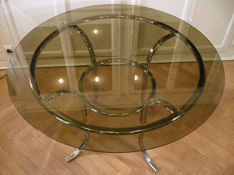table ronde vintage