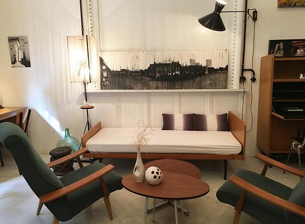 Mobilier vintage et industriel, luminaire et décoration arty, atelier show-room, ArtchiArty Marseille