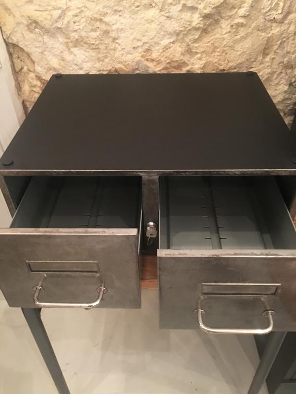 casier métal double tiroirs