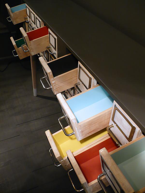 meuble de métier en bois massif