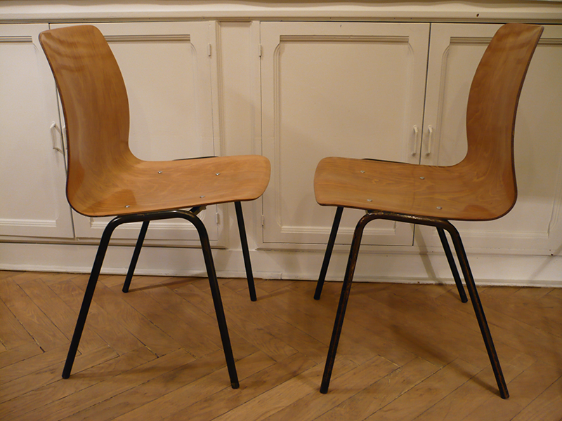 Chaises vintage Pagholz Pagwood