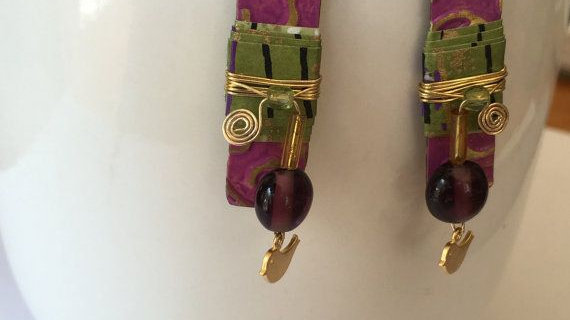 Purple Boho Earrings