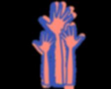 Logo hand vrijwilligers