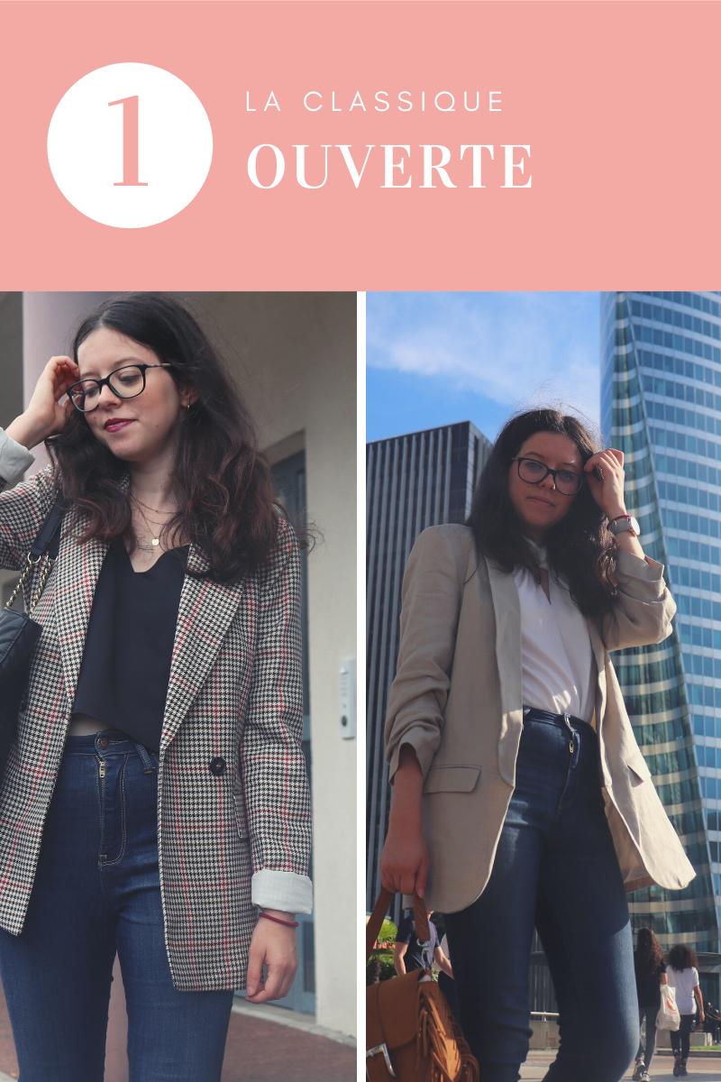 3 Façon de porter un même Blazer : la porter ouverte