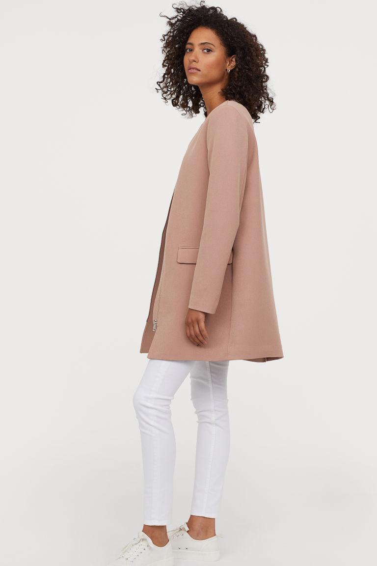 manteau court vieux rose