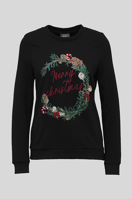 Sweat-shirt merry christmas couronne C&A