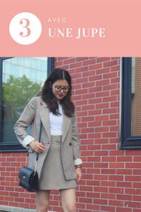 3 Façon de porter un même Blazer : porté une jupe