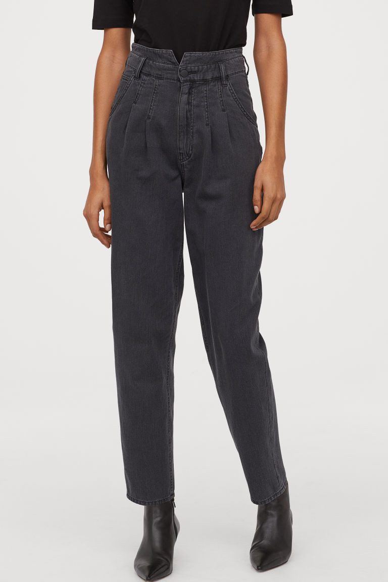 tapered high jeans noir