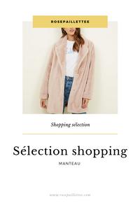 Sélection shopping de manteau
