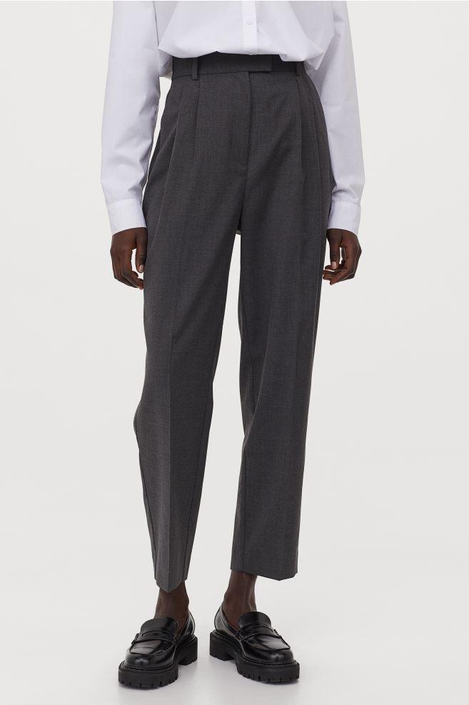 Pantalon à pince gris H&M