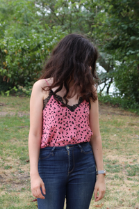 caraco léopard rose h&m