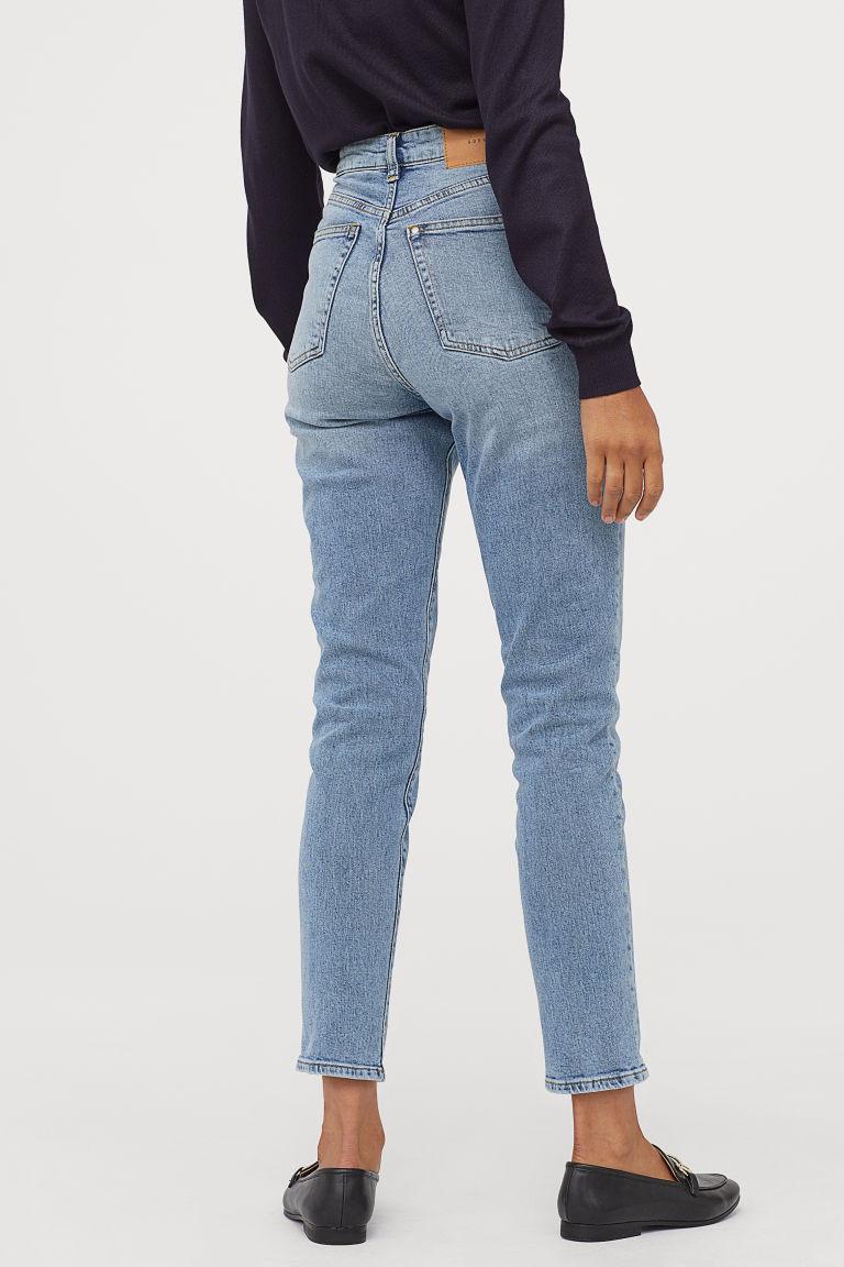 Mom jeans bleu claire H&M