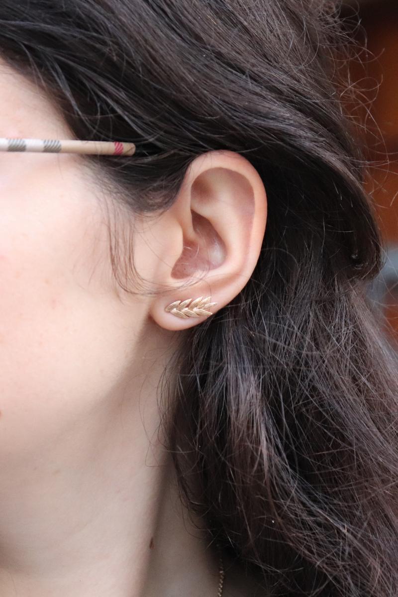photo boucles d'oreilles épis de blé de chez moonlax