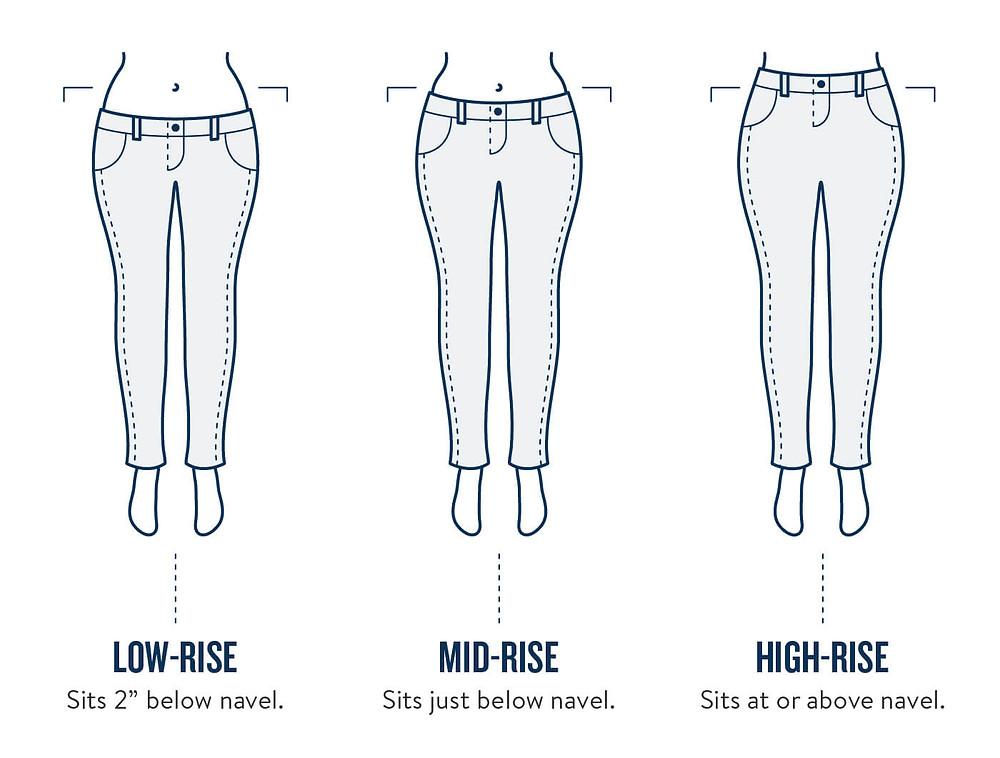 différente taille pour les jeans