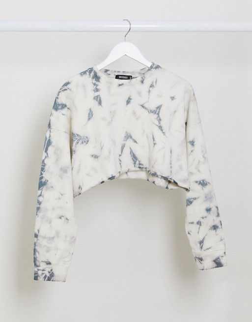 Sweat-shirt court tie dye ASOS