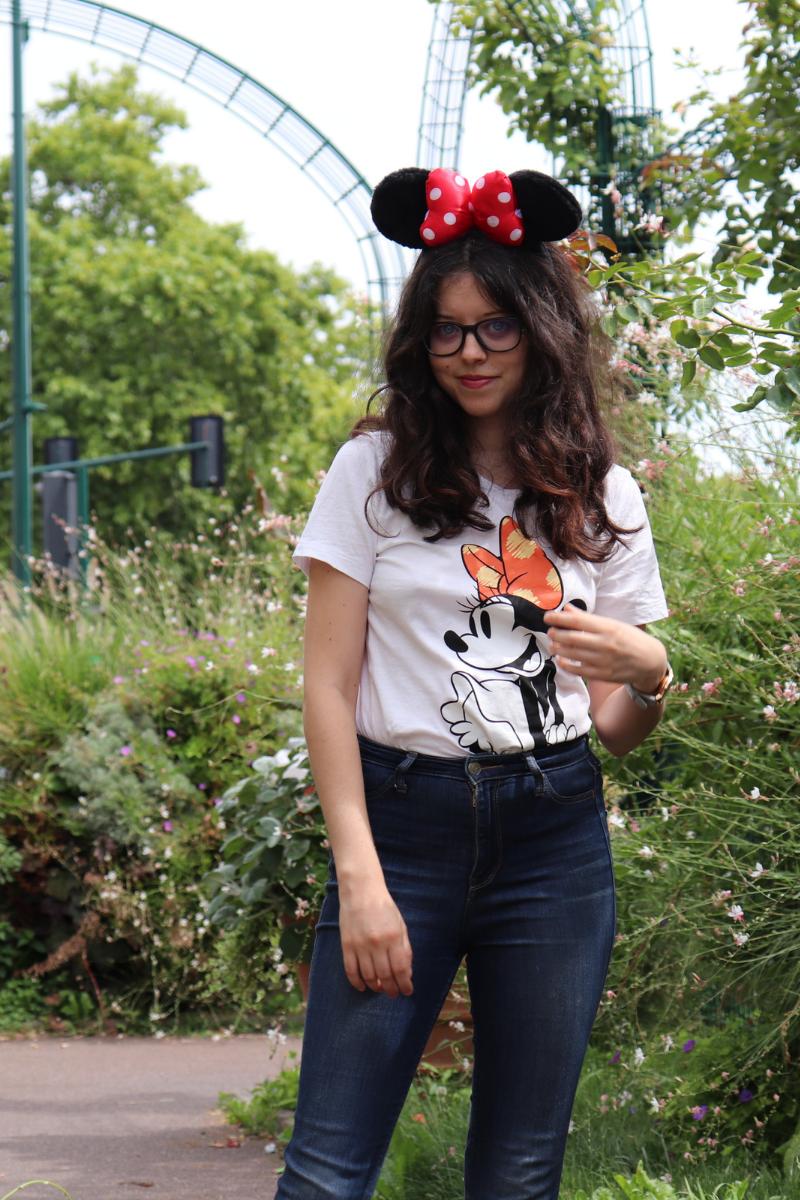 T-shirt blanc minnie C&A