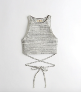 Crop top gris hollister