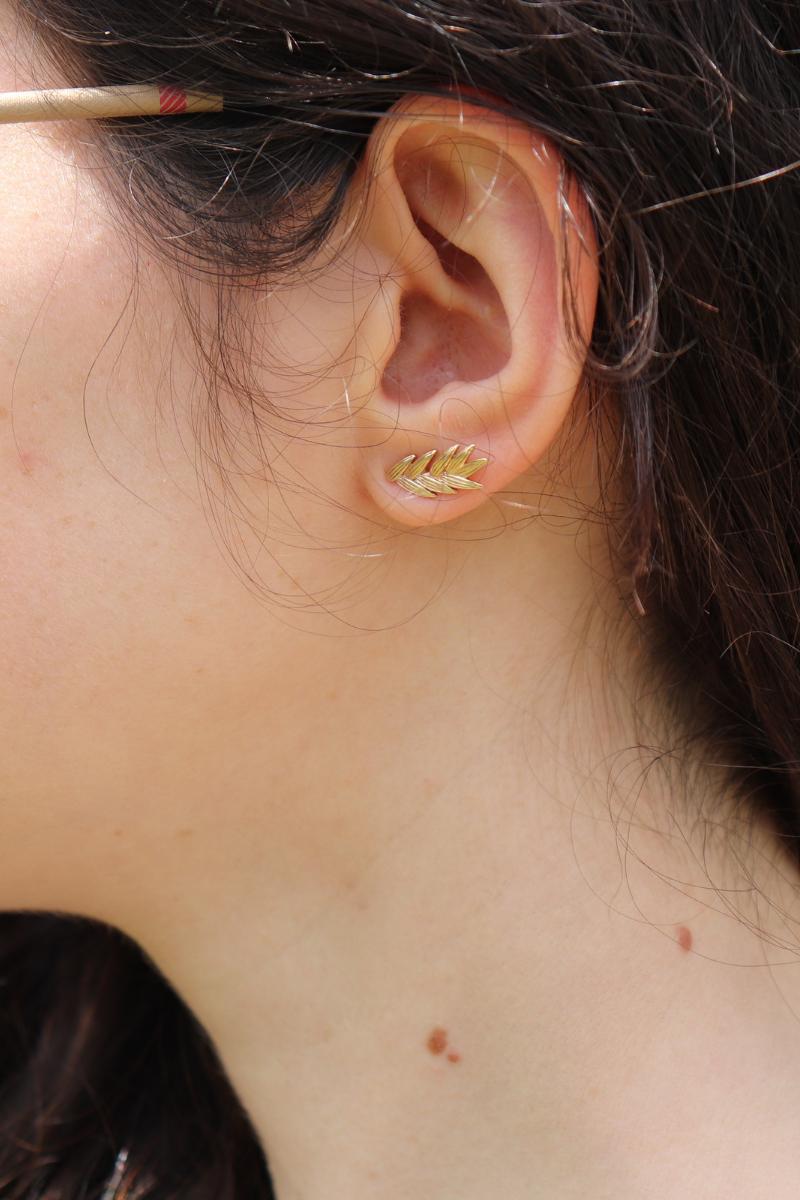 photo des boucles d'oreille épis de blé moonlax