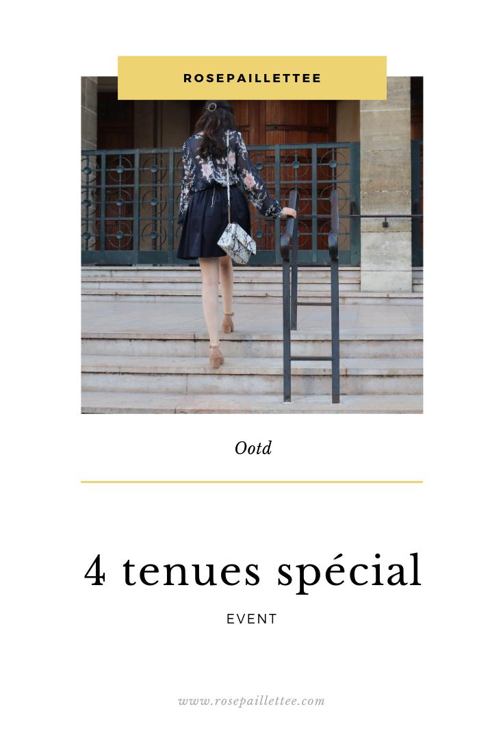4 tenues spécial évent photomontage de rosepaillettee