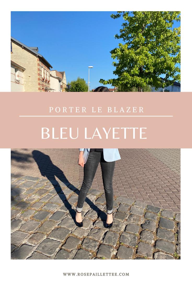 Porter le blazer bleu layette