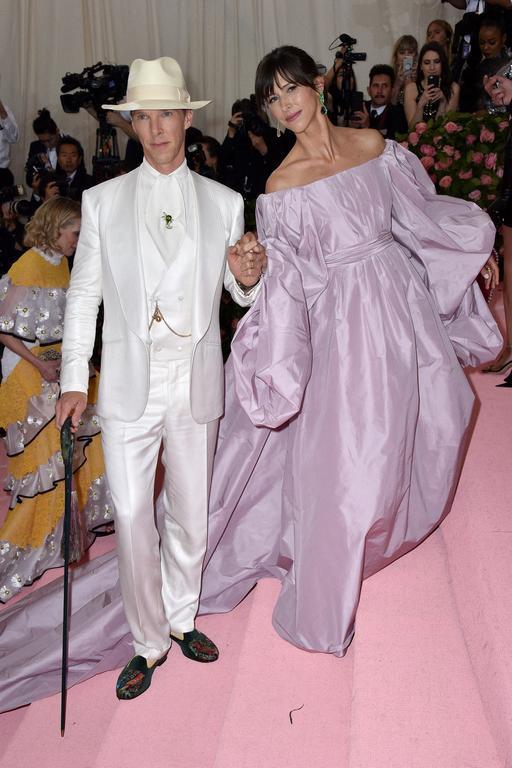 Benedict Cumberbatch et Sophie Hunter au met gala 2019
