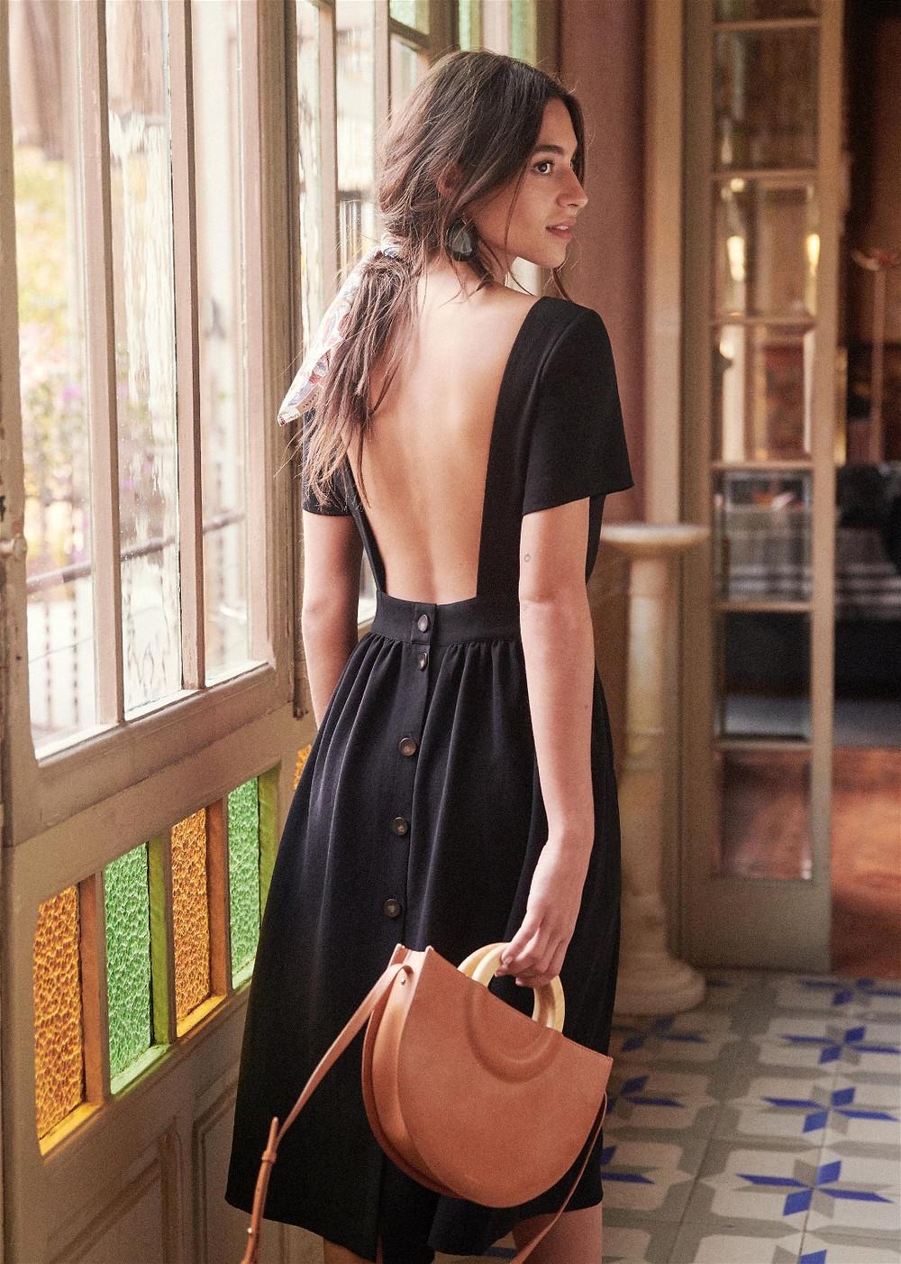 robe dos nue noir sezane
