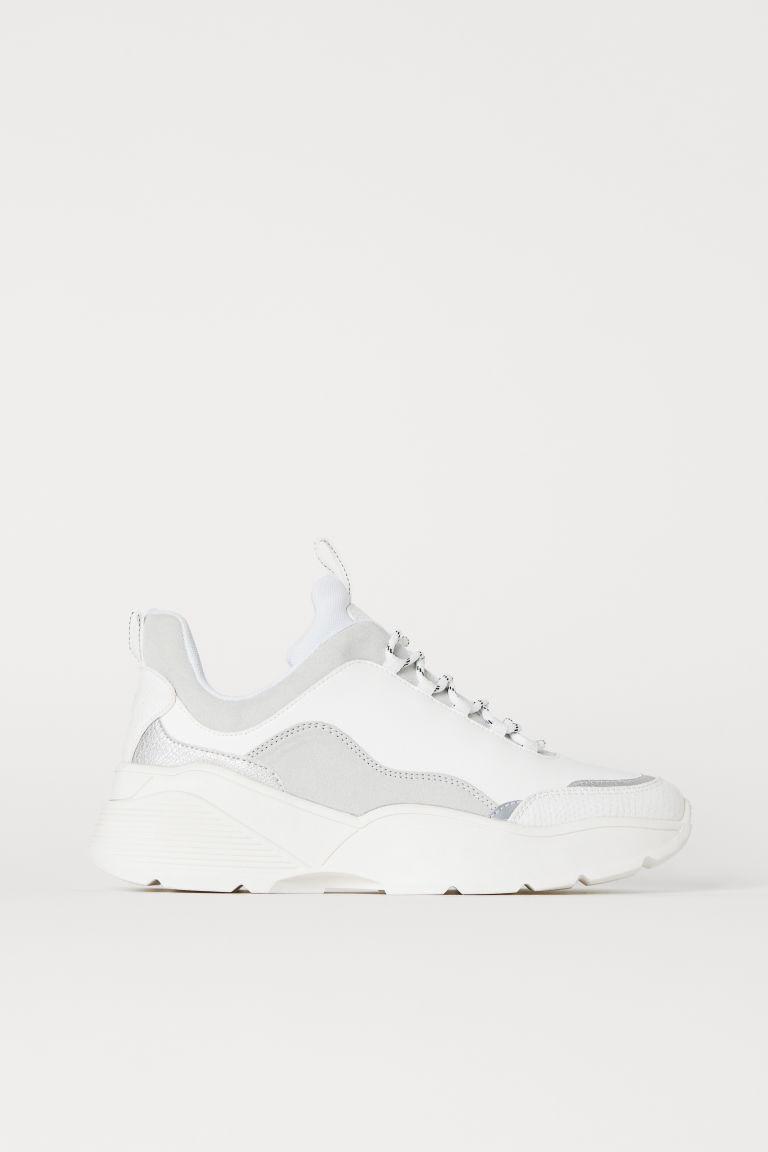 Baskets blanc/gris clair