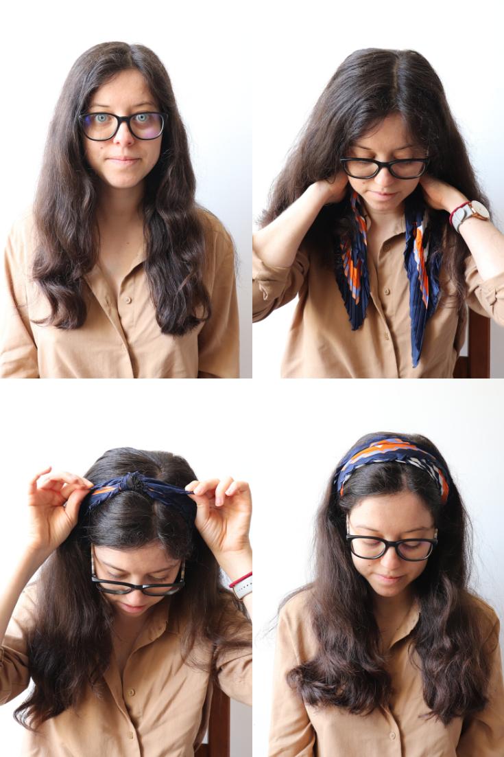 Bandeau avec un foulard