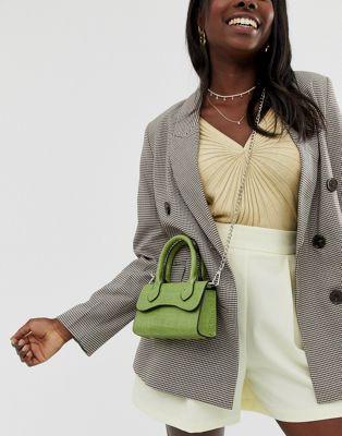 petit sac inspiration jacquemus vert