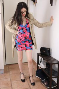 Robe à fleurs bershka
